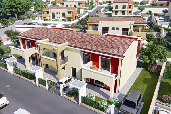 Case in vendita a Messina. Case a schiera con giardino. Villette plurifamiliari in vendita a Messina Ganzirri Parco Pelorias